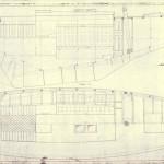 Spant,Profil och Planritning båt nr:172-176 för Georg Rohde, Halfdan Hansen, Fred Olsen, Johs Lindvig och Jac Lindvig. Ritat av Johan Anker