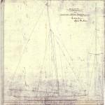 Rigg och Segelritning för Båtnr: 174. Skeppsredare Fred Olsen